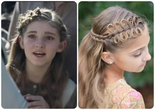 """How to do the Bow Braid hair Prim wore in """"The Hunger Games: Catching Fire."""" Utah YouTube family, Cute Girl Hairstyles, style featured in the movie."""