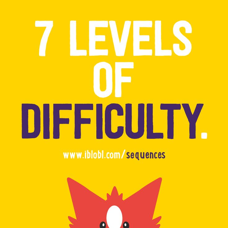 #Ibbleobble #Sequences has 7 levels of difficulty - so you can go at your own speed  http://www.iblobl.com/sequences