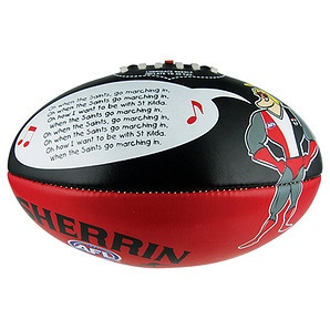 AFL St Kilda Saints Sherrin Song Football. Callum really wants a new footy.