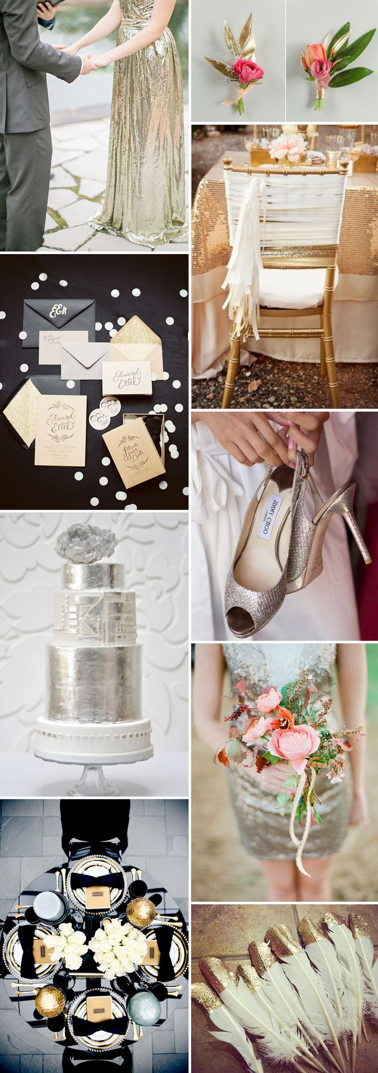 love the gold dipped feathers... maybe use with the place setting?!