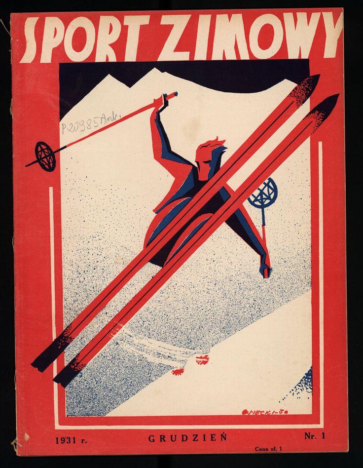 """Okładka magazynu """"Sport zimowy"""", 1932 rok; http://szukamy.org/zimowe-igrzyska-olimpijskie-lake-placid-1932/"""