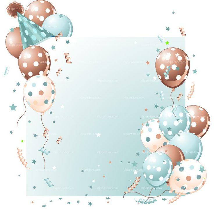 CLIPART BLUE PARTY BALLOON CARD | Royalty free vector design