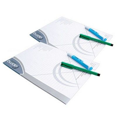 A4 Customised Note pad (25 Sheets) Min 250 - Conference & Events - Conference Note Pads - HCL-PP1021 - Best Value Promotional items including Promotional Merchandise, Printed T shirts, Promotional Mugs, Promotional Clothing and Corporate Gifts from PROMOSXCHAGE - Melbourne, Sydney, Brisbane - Call 1800 PROMOS (776 667)