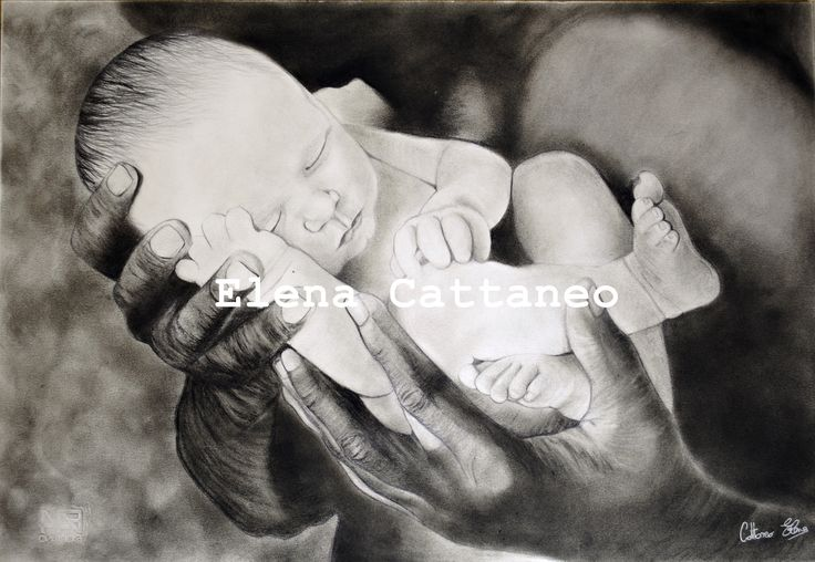 Disegno realizzato con carboncino nero e pastello! (33x48)