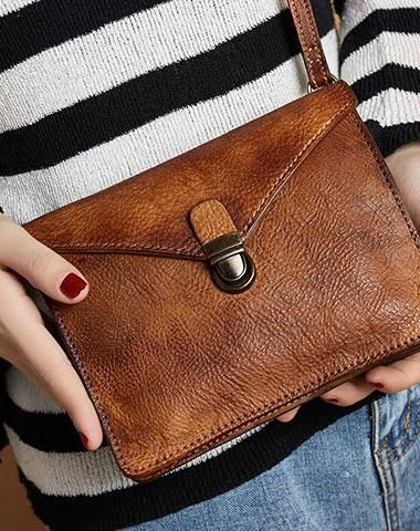Genuine Handmade Vintage Leather Crossbody Bag Shoulder Bag Women Leather  Purse 1f7b361f1124a