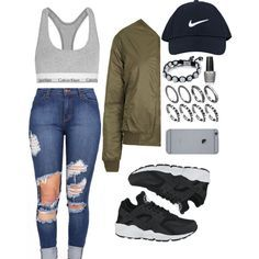 Huarache by summabby on Polyvore featuring Topshop, Calvin Klein Underwear, NIKE, SHIMLA, OPI, women's clothing, women's fashion, women, female and woman