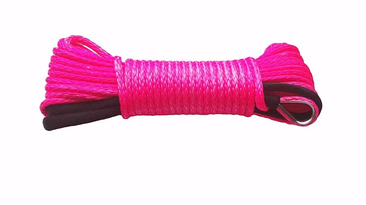 "Pink 5MM*15M ATV Synthetic Rope,3/16"" Rope ATV Winch Accessories,Boat Winch Cable,Winch Rope for ATV Winch"
