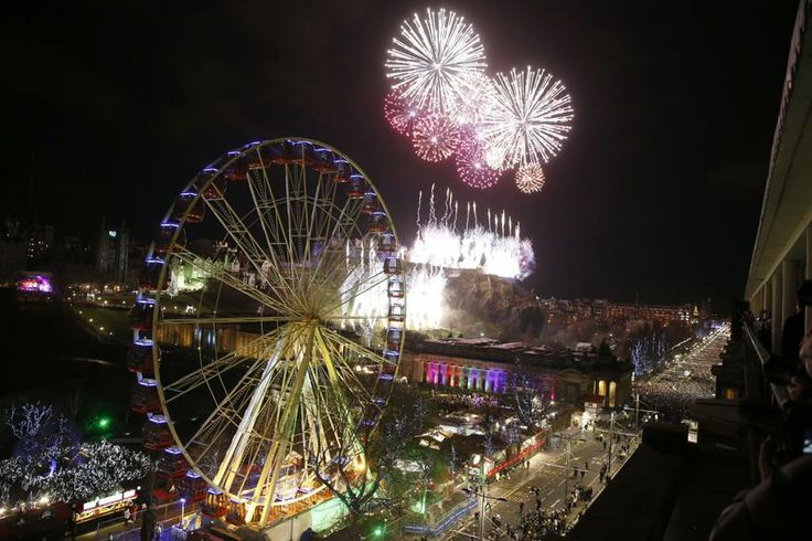 Fireworks explode over Edinburgh Castle during the Hogmanay (New Year) street party celebrations in Edinburgh, Scotland