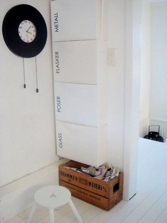 How To Use IKEA Trones Storage Boxes in Every Room of the House | Apartment Therapy Recycling station for the kitchen.