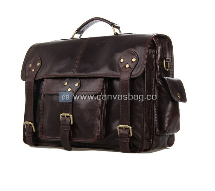 Mens Leather Satchel Satchel for Man Laptop Satchel Bag Material: Leather Color: Dark Brown Hardware: MetalHardware Closure: Buckle Gender: Unisex Size:38x12.5x 28cm     14.9*4.9*11 inch...
