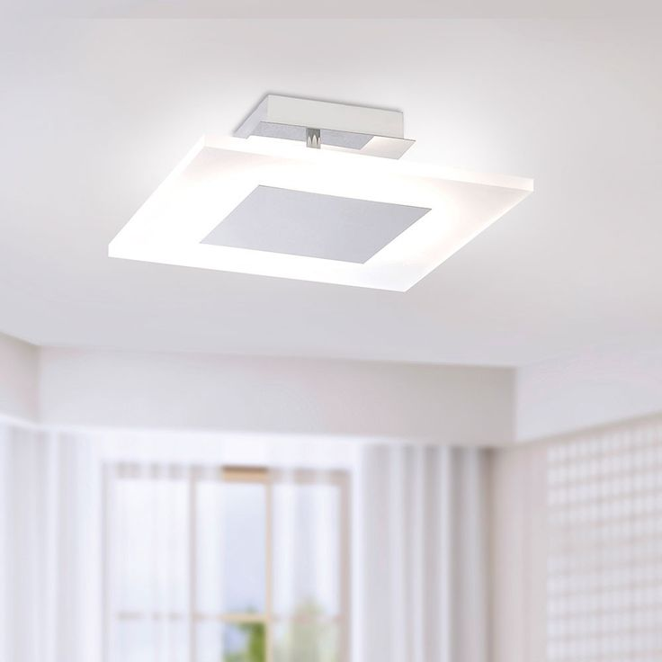 SKAPETZE -    Adali LED Deckenleuchte 35 x 35cm dimmbar / 24W / 4000K / Chrom Innenleuchten Deckenleuchten