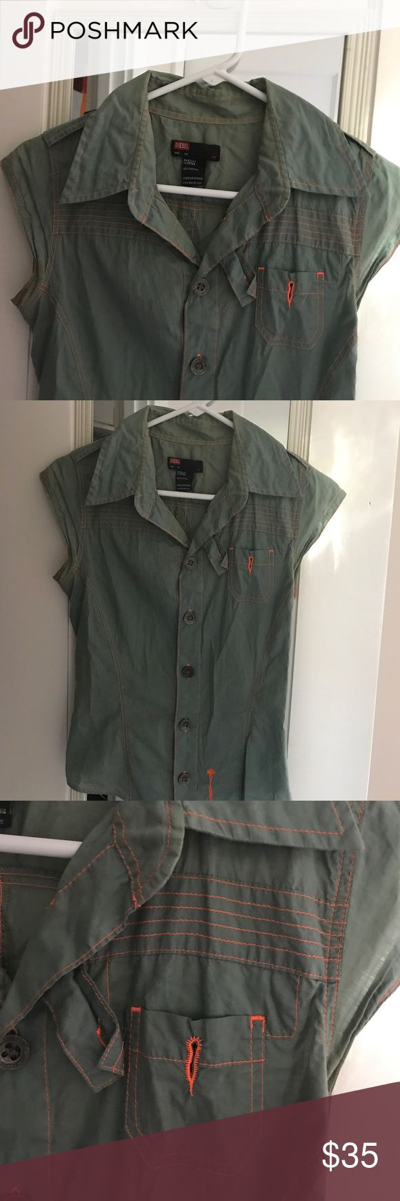 Diesel blouse This is a really nice fit blouse. I do not think Diesel makes as nice women clothes as it used to. It is in excellent condition. No flaws, just does not fit me anymore:( Diesel Tops Blouses