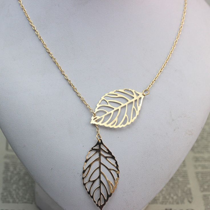 Double Leaf Necklace //Price: $2.00 & FREE Shipping //     #hashtag3