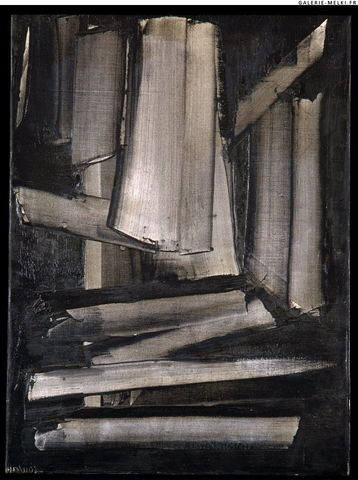 Pierre SOULAGES. Composition. 1959. Oil on canvas.