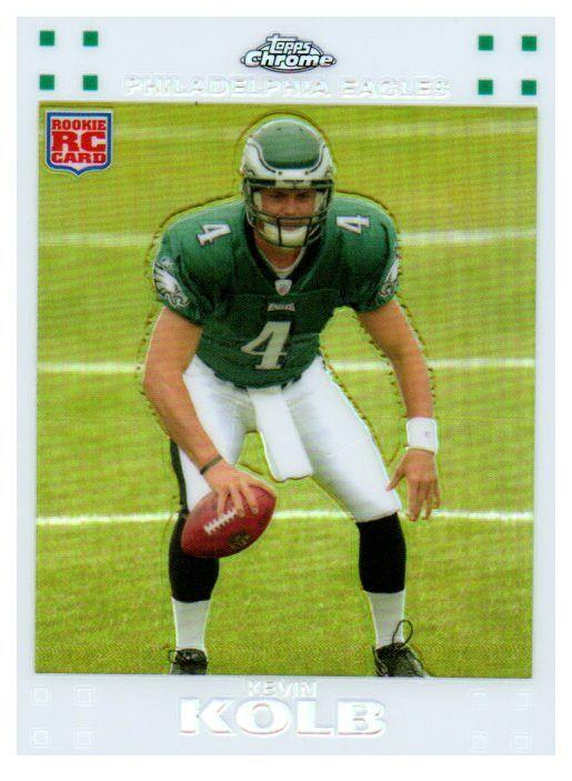 2007 Topps Chrome Kevin Kolb Rookie White Refractor /869 Philadelphia Eagles