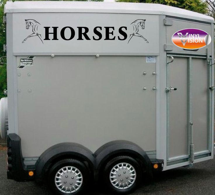Dressage horses lorry trailer horsebox sign