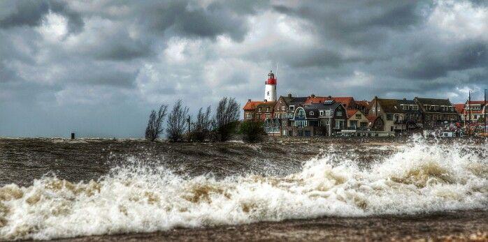 Stormy day at Urk beach