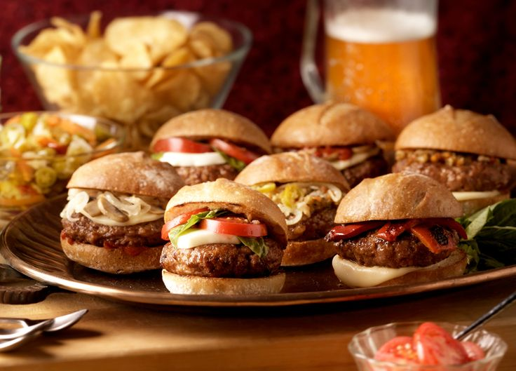 * Italian Sausage Sliders - Lordy Lordy!!  These were delicious!  We added sauteed garlic and mozzarella and it was AMAZING!