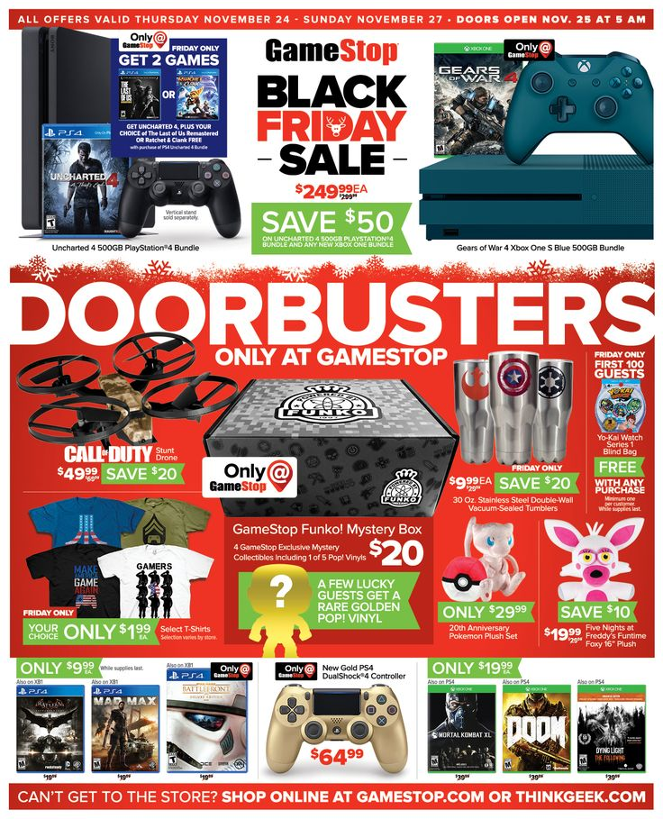 Game Stop Weekly Ad November 24 - 27, 2016 - http://www.olcatalog.com/game-stop/game-stop-weekly-ad.html