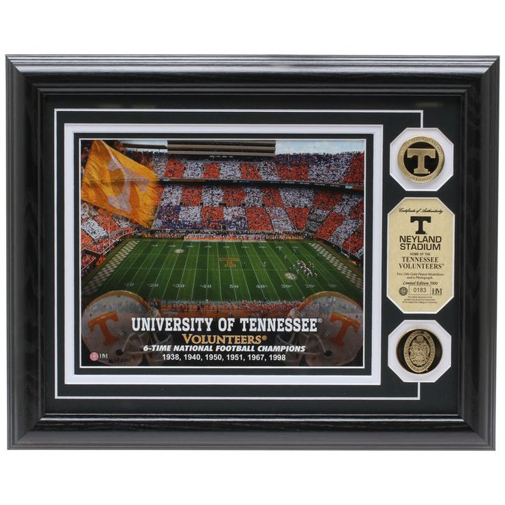 Tennessee Volunteers Neyland Stadium 24kt Gold Coin Photomint