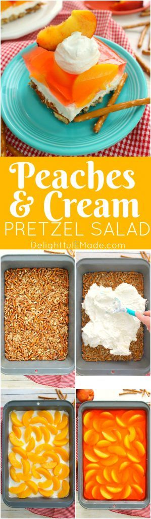 If you love the classic strawberry version, then this peach pretzel salad recipe is right up your alley! Made with a salty-sweet pretzel crust, a delicious cream cheese filling, and an amazing layer o (Strawberry Dessert Recipes)
