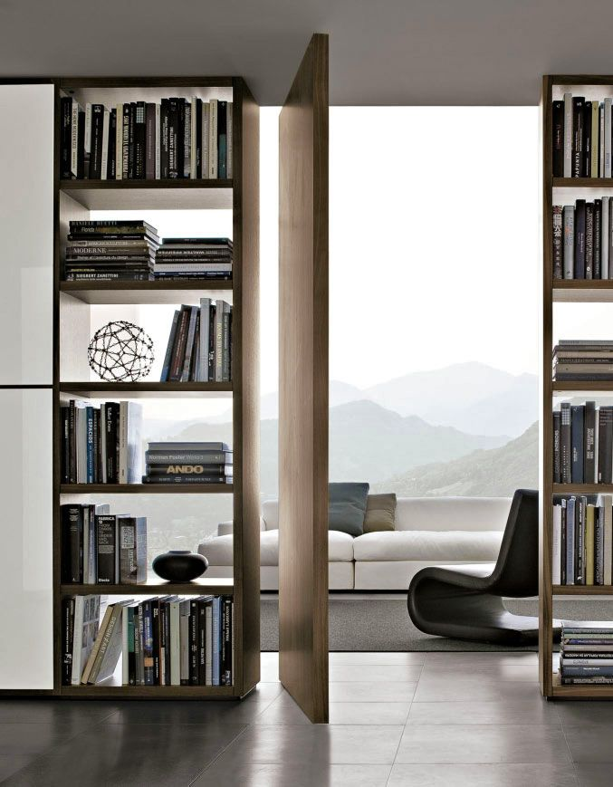 Poliform Wall System Used In A Modern Living Room