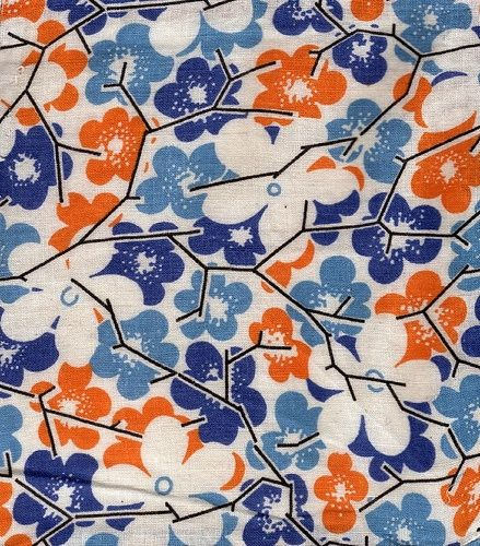 vintage feed sack fabric orange blue orange and blue pinterest feed sacks vintage and blue. Black Bedroom Furniture Sets. Home Design Ideas