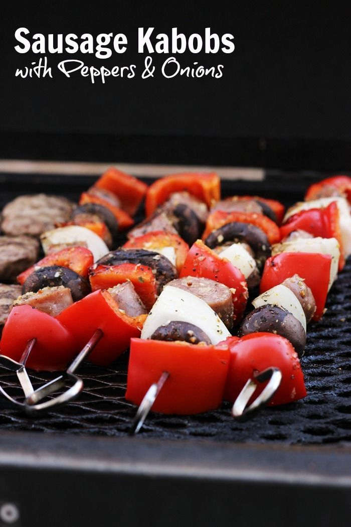 Sausage Kabobs with Peppers and Onions are easy to make and super delicious. Such a meal comes together effortlessly for a simple grilled, weeknight dinner. Sausage Kabobs with Peppers & Onions http://goodcheapeats.com/2016/07/sausage-kabobs-peppers-onions/
