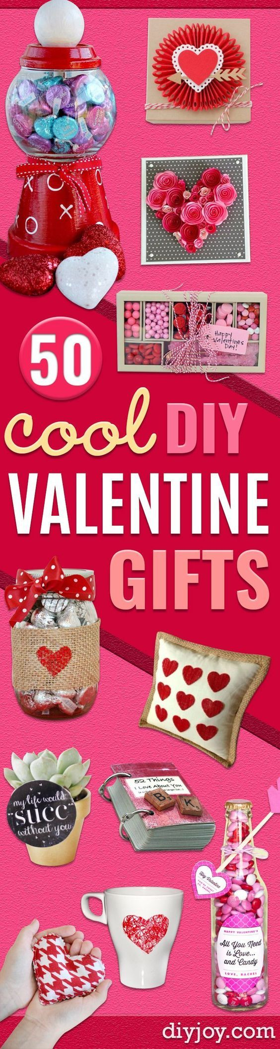 Best DIY Valentines Day Gifts - Cute Mason Jar Valentines Day Gifts and Crafts for Him and Her   Boyfriend, Girlfriend, Mom and Dad, Husband or Wife, Friends - Easy DIY Ideas for Valentines Day for Homemade Gift Giving and Room Decor   Creative Home Decor and Craft Projects for Teens, Teenagers, Kids and Adults diyjoy.com/...