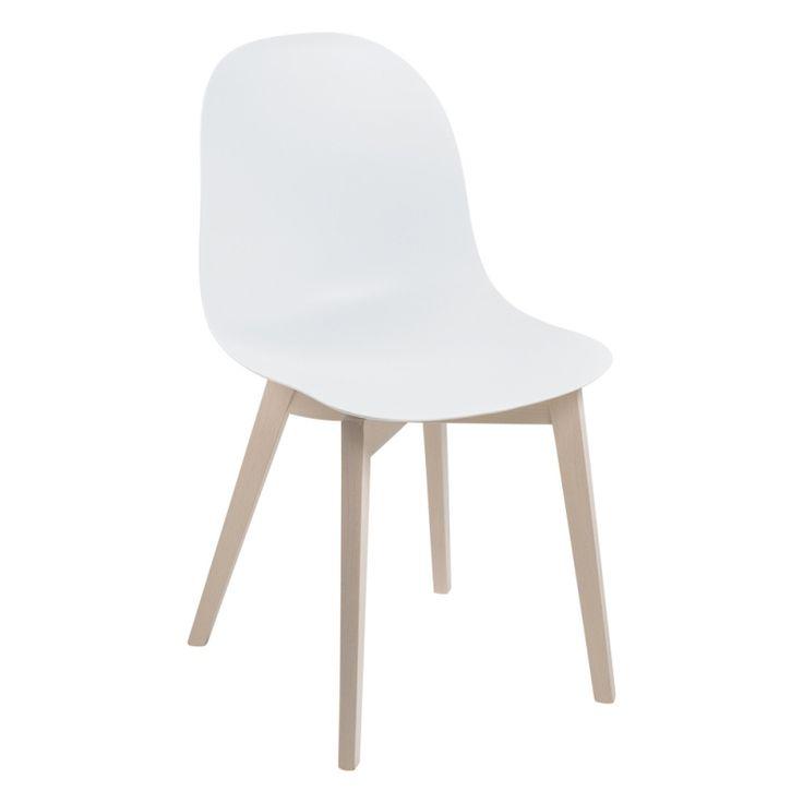 chaise scandinave en polypropyl ne et bois 1665 academy. Black Bedroom Furniture Sets. Home Design Ideas