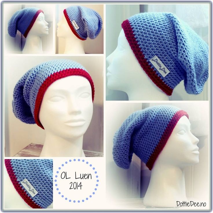 FREE pattern . Our version of the olympic woolen hat for the Norwegian team in Sotsji :)  Easy to translate from Norwegian.