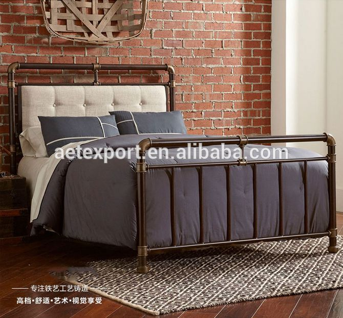 Morden stijl vintage smeedijzeren bed soft-pack speciale aanbieding op voorraad-bedden-product-ID:60360450596-dutch.alibaba.com