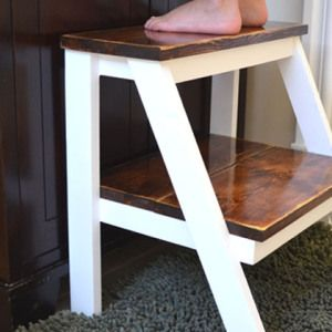 DIY kid step stool feature
