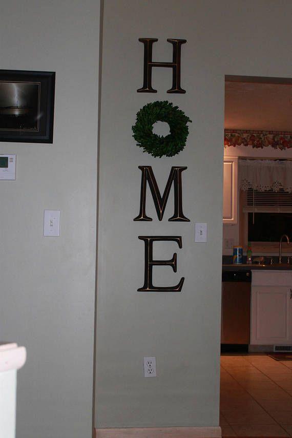 Home Letters Home Letter Sign Home Letters With Wreath