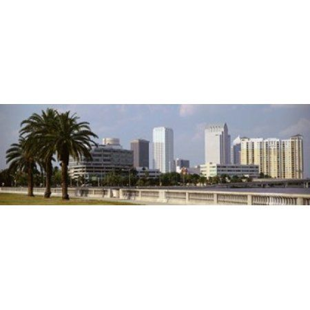 Skyline Tampa FL USA Canvas Art - Panoramic Images (36 x 12)