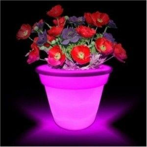Flower Power Color changing LED Plant Pot You can light up your porch or swimming pool area with these pots.