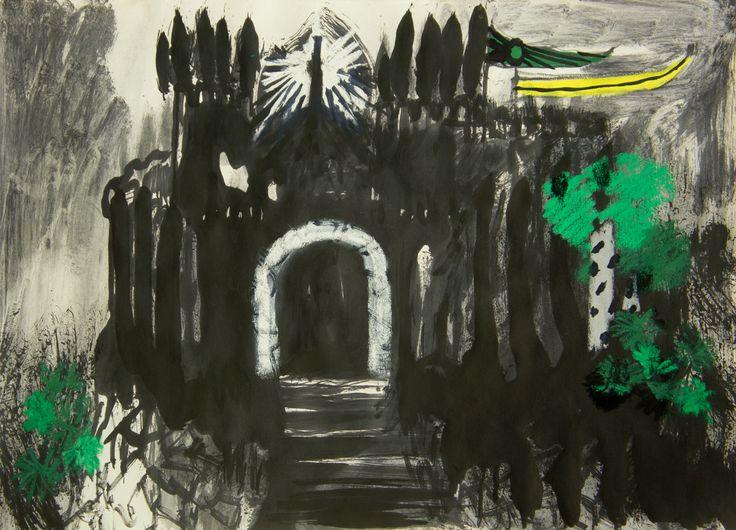 "paintingsinlove: ""  Eduardo Infante Castillo Interior I y II . 2016 . Toner Ink and pastel on paper. 42 x 59 cm. """