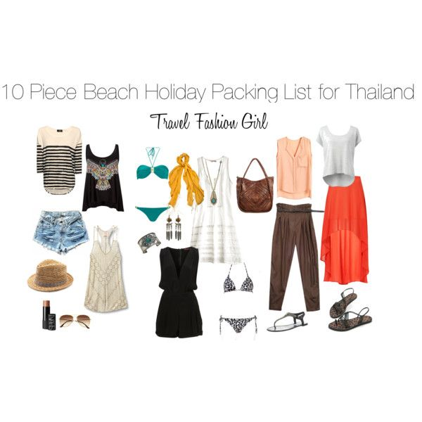 10 Piece Holiday Packing List for the Thailand Islands by travelfashiongirl, via Polyvore