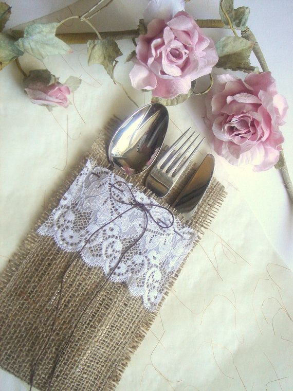 100 Burlap Flatware holders for weddings Wedding by accessory8, $185.00