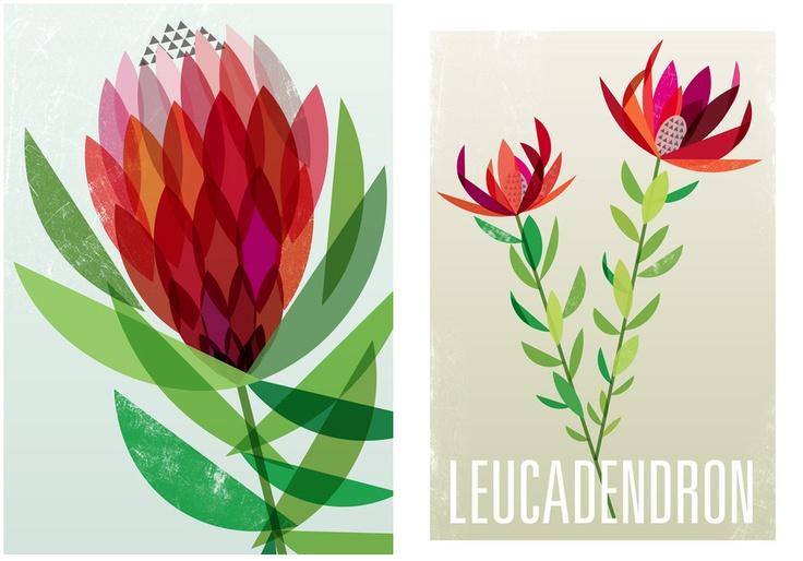 Ink & Spindle: textiel ontwerpstudio van Lara Cameron & Tegan Rose in Melbourne. Seen on vlinspiratie.blogspot.com