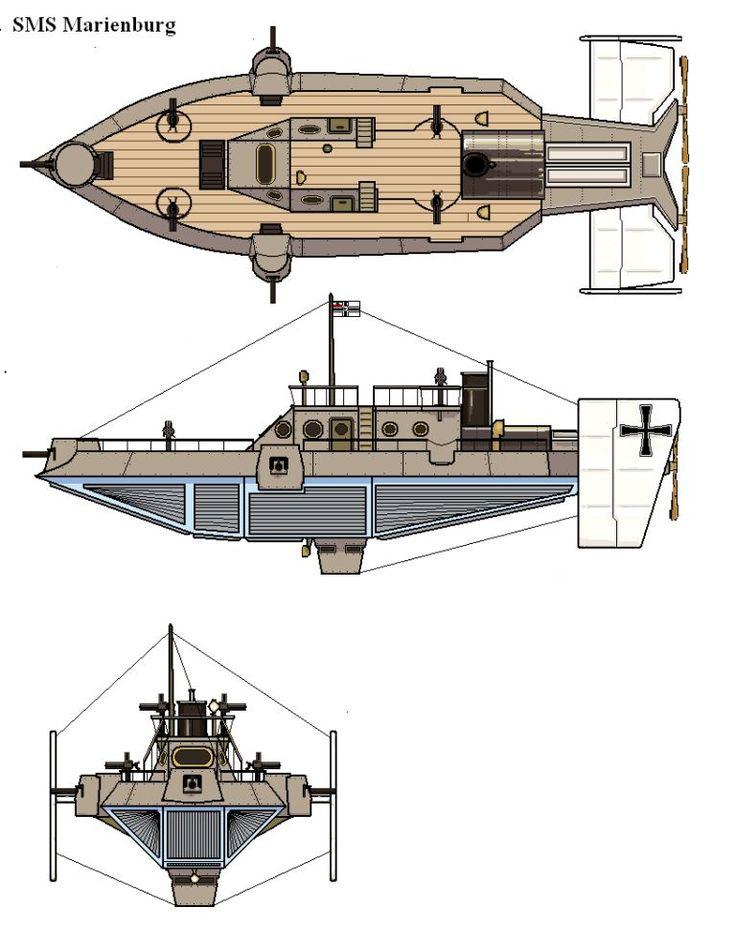 Space 1889 German Steamflyer