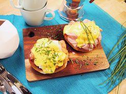 Ägg florentine med lax | Recept.nu