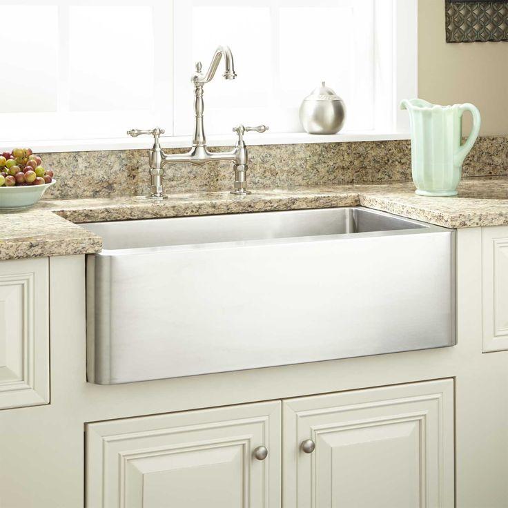 Hazelton stainless steel farmhouse sink kitchen