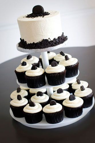 One of the 3 cup cakes that will be at my wedding. This one is the Tuxedo cupcake.