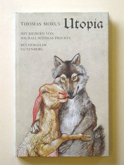 Michael M. Prechtl (1926-2003) Illustration zu Thomas Morus 'Utopia'