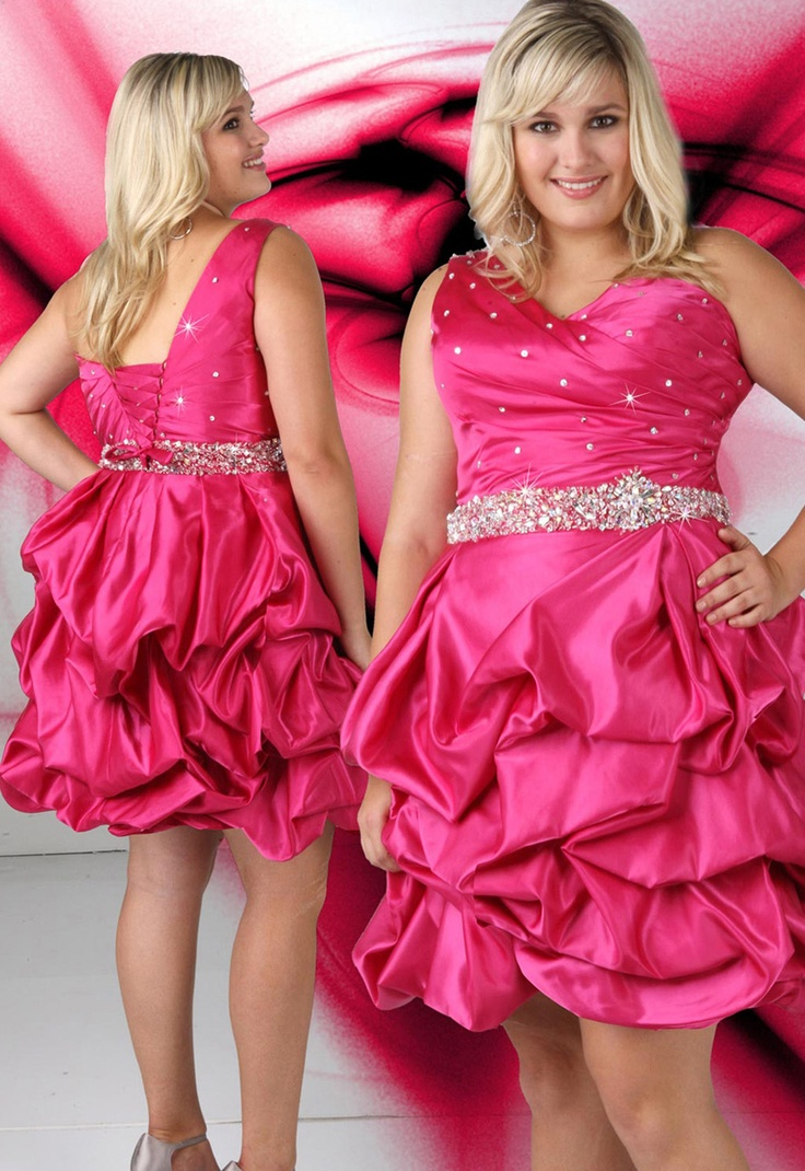 99 best plus size prom dresses images on pinterest bride dresses pick one shoulder beaded short lace up fuchsia plus size cocktail dresses ombrellifo Gallery