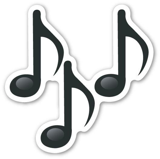 Resultado de imagen de emoticon notas musicales