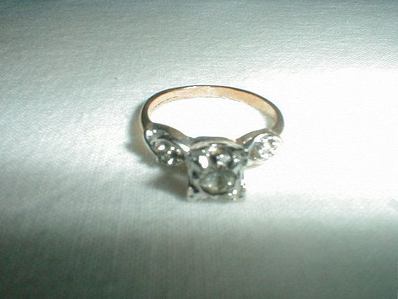 vintage j.esposito engagement ring sz. 5 by qualityvintagejewels