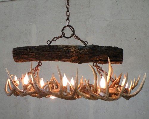 whitetail antler chandelier - Antler Chandelier