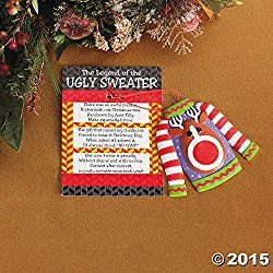 FE-OTC The Legend of Ugly Christmas Sweater Holiday Ornament Gag Gifts